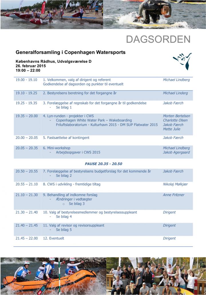 Dagsorden CWS GF2015